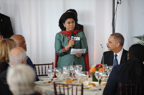 Linda Gumelar, Minister of  Women Empowerment and Child Protection of Indonesia, speaks during the  High-level Lunch Event on Strengthening Women's Access to Justice | by UN Women Gallery