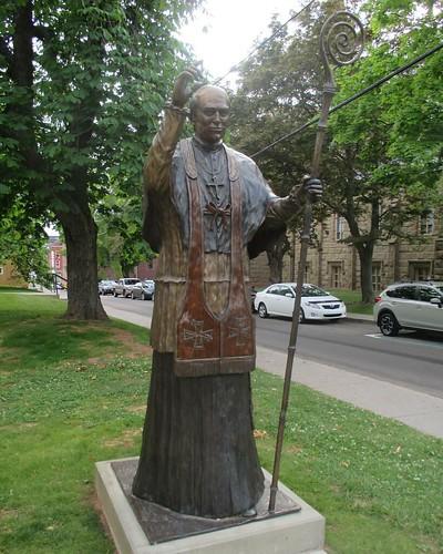Statue, Angus Bernard MacEachern #pei #charlottetown #greatgeorgestreet #statue #romancatholicism #latergram #stdunstans