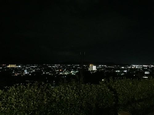 紀ノ川SA(下り)から見た夜景