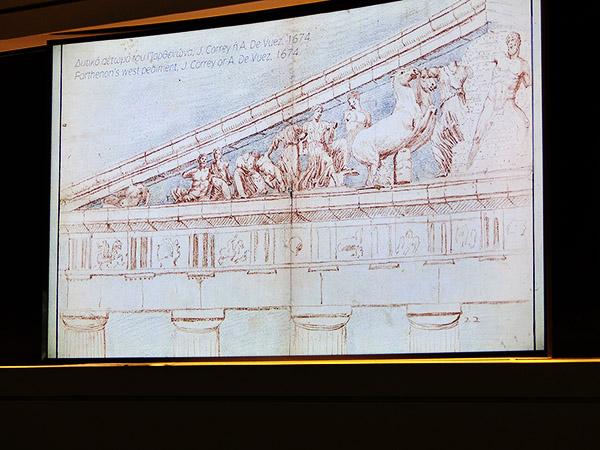le parthénon en 1674