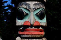 Totem poles and masks.  (21)