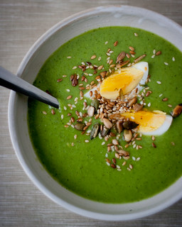 Pea and Watercress Soup with Boiled Egg | by monica.shaw