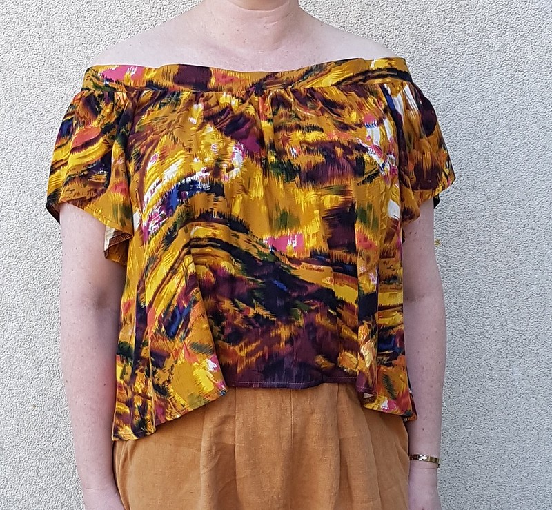Style Arc Cara top in rayon from Darn Cheap Fabrics (with Style Arc Ethel pants in linen)