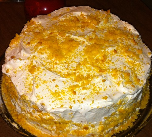 Cake Frosting Pudding Cram Cheese And Coolwhip