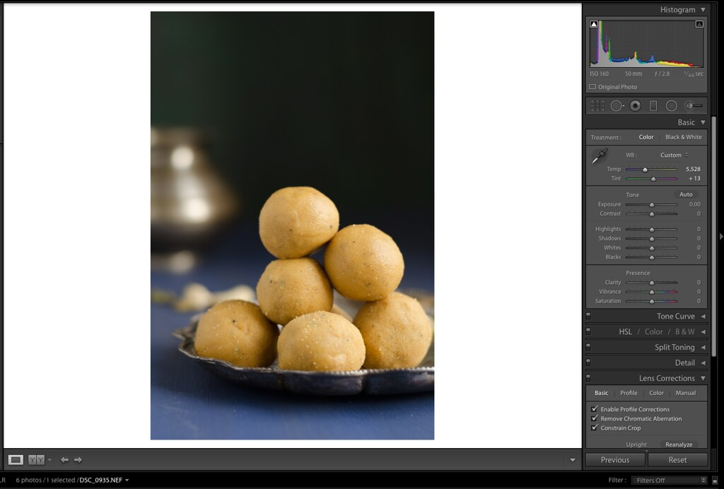 White Balance, Adjust White Balance in Lightroom, Lightroom Tutorial for Food photos, Lightroom tutorial, Editing RAW files in Lightroom,  Lightroom Food Tutorial, How to edit food photos in Lightroom,