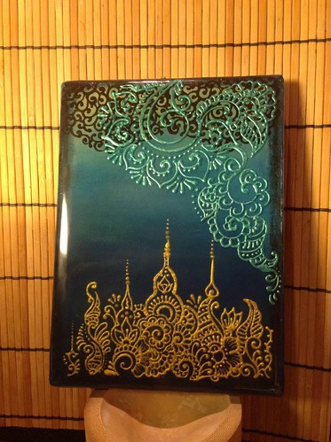 Royalty | Henna designs on canvas done with fabric paint ...