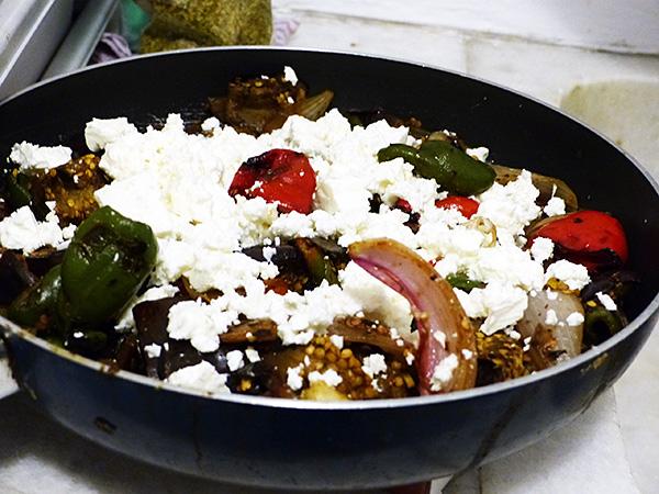 légumes grillés et feta