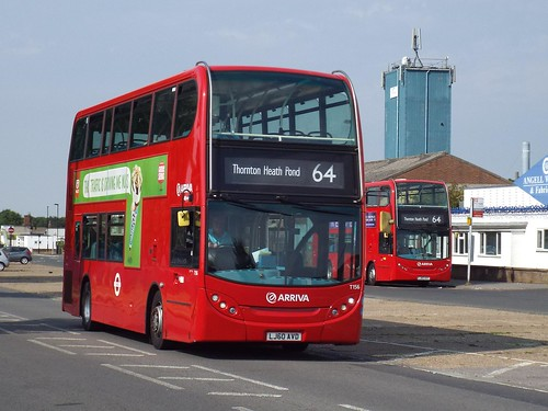 First day - Arriva London T156, LJ60AVD in New Addington on route 64 to Thornton Heath Pond