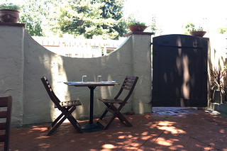 Backyard - Tables and chairs