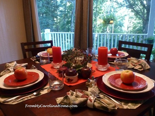 Apple Tablescape ~ From My Carolina Home