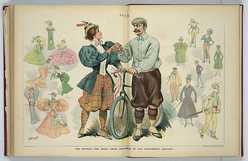 "Puck Magazine - Bicycle = ""Dress Reform"" 1895"