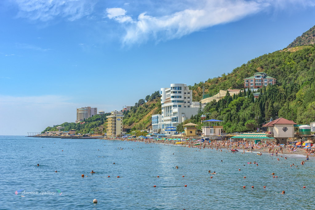 Crimean beach in August