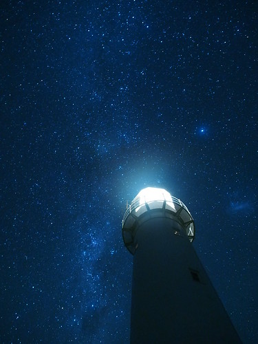 Cape Egmont Lighthouse and the Milky Way   Summer Night ...