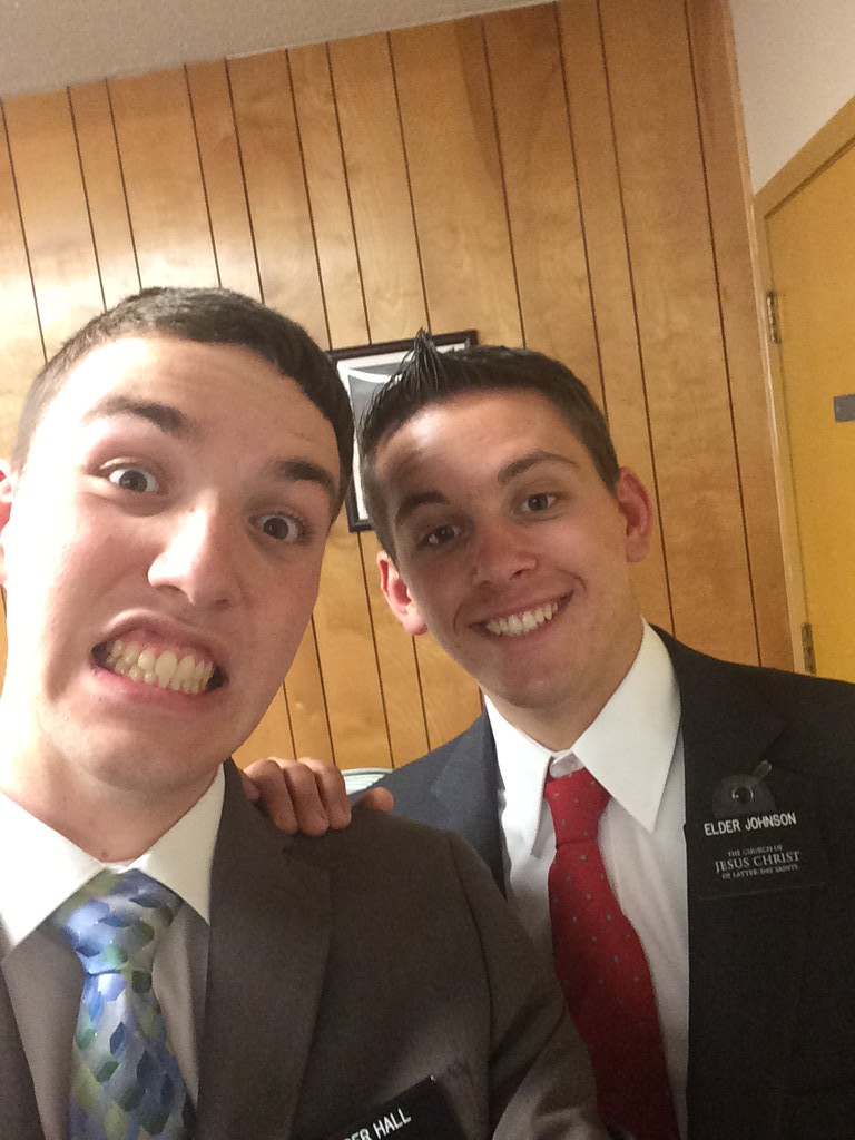 New companions: Elder Hall and Elder Johnson