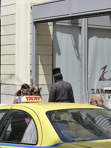 Pope et taxi