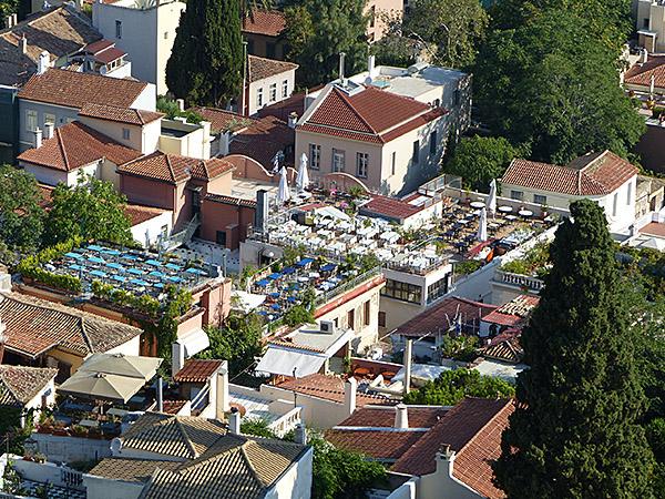 rooftops depuis l'Acropole