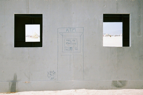 Burning Man, Burn Wall Street, Feed me a stray cat ATM (American Psycho...), 2012 | by reel aesthete