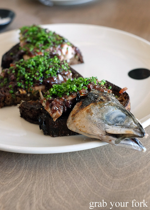 Sweet and sour Ulladulla blue mackerel at Saint Peter by Chef Josh Niland in Paddington Sydney