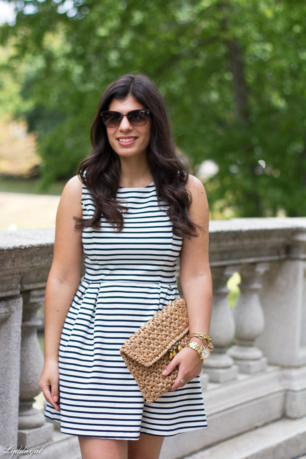 striped dress, espadrille sandals, straw clutch-13.jpg