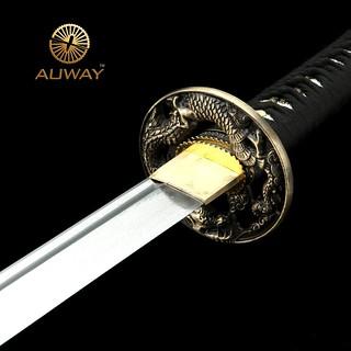 Auway-samurai-sword-Dragon-Tsuba-Black-scabbard-1