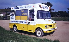 Jersey's soft ice cream Bedford van, Jersey, Channel Islands.