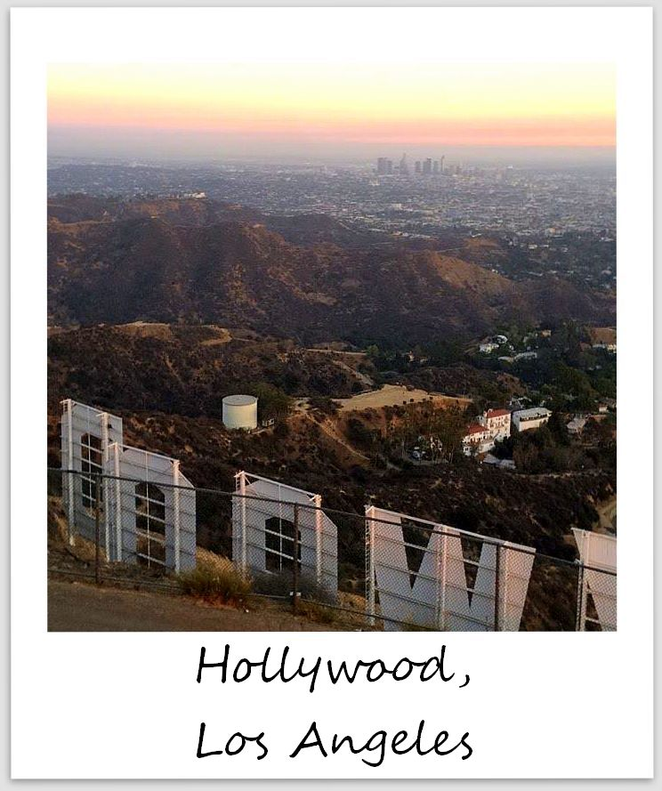 polaroid of the week usa california hollywood sign los angeles