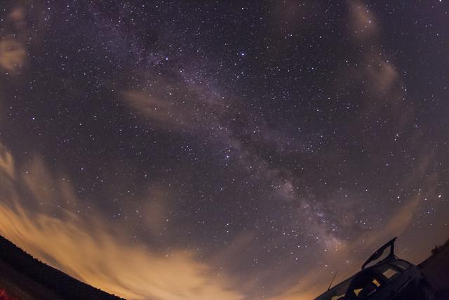 Triángulo de verano y Vía Láctea.
