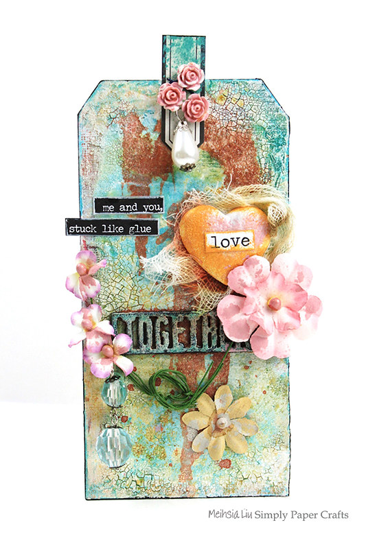 Meihsia Liu Simply Paper Crafts Mixed Media Tag Love 6002