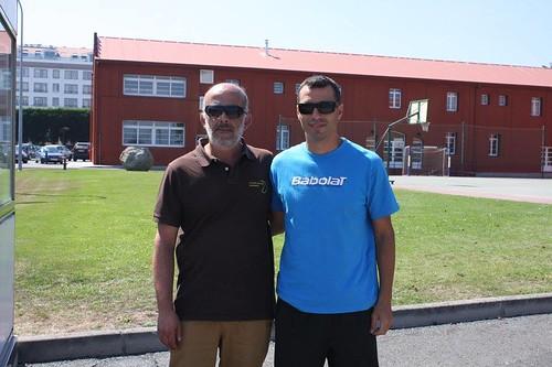 Fotos jueces en Master del Circuito Gallego Juvenil de Tenis Babolat 2016