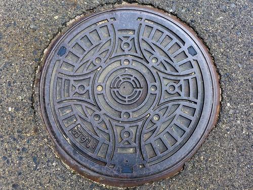 Yasuda Nigata, manhole cover 2 (新潟県安田町のマンホール2)
