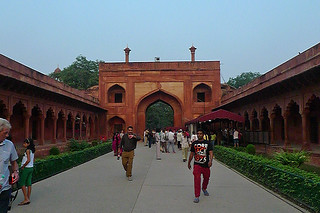 Agra - Taj Mahal through the entrance