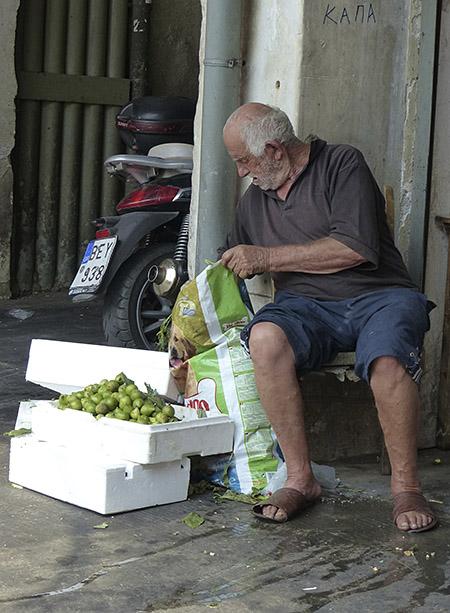 vendeur de figues dans omonia