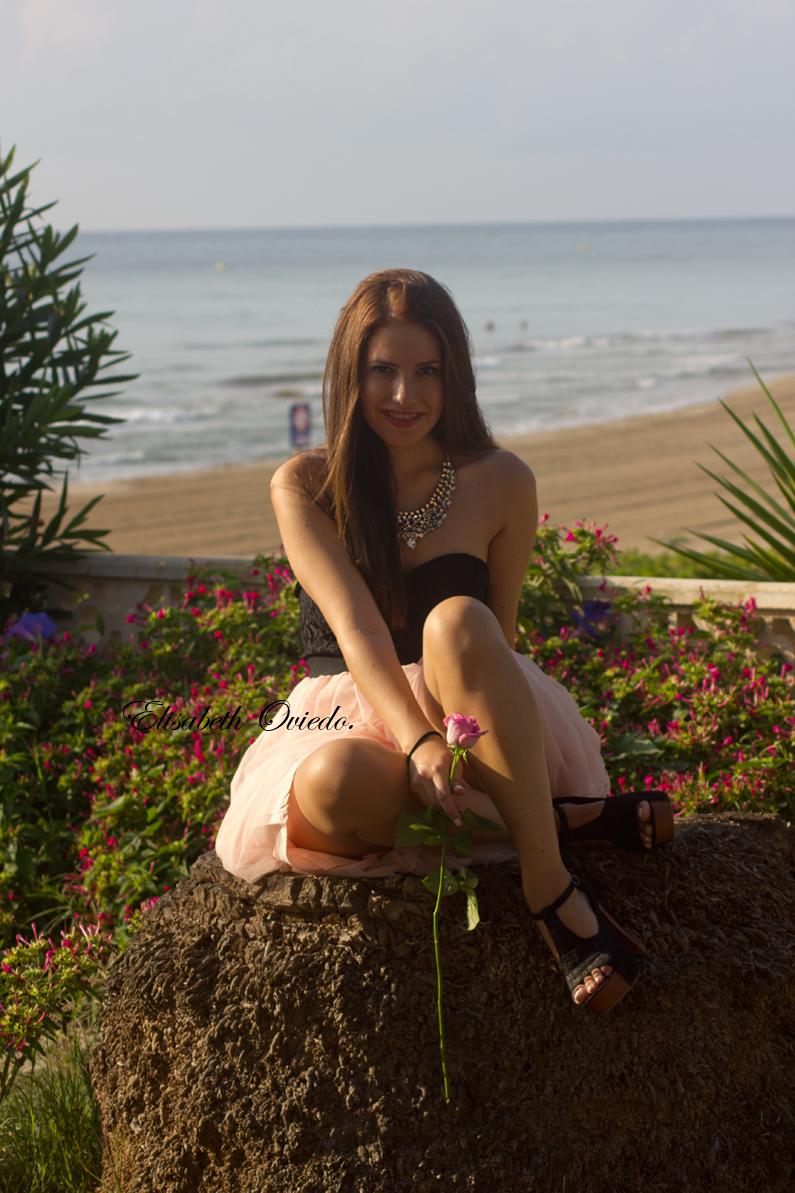 vestido VIPme tacones OASAP HEELSANDROSES Elisabeth Oviedo blog moda vestido palabra de honor falda de vuelo rosa (7)
