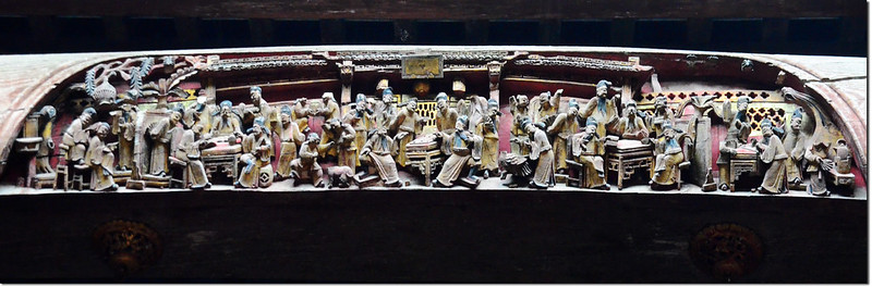 宏村承志堂木梁上的雕刻 1