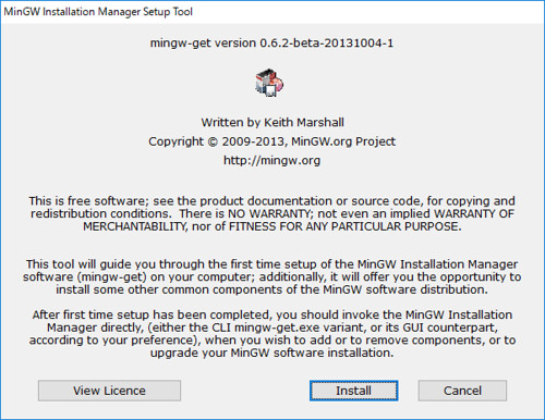 MinGW_Installation_Manager_Setup_Tool