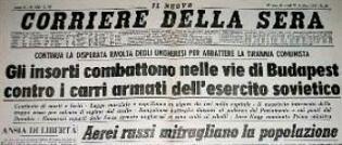 Ungheria 1956 Corriere della Sera