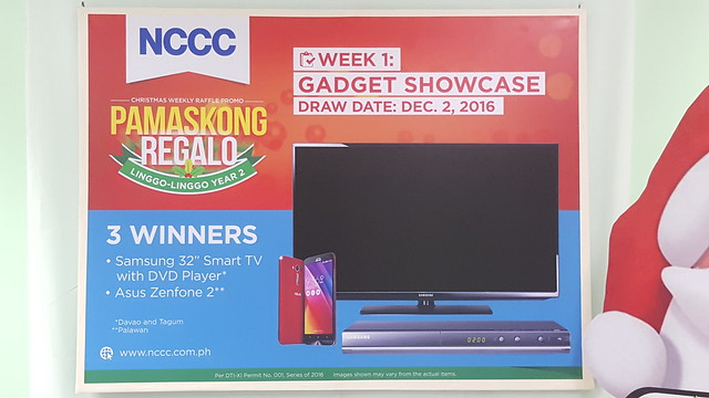 Week 1: Gadget Showcase | NCCC's Pamaskong Regalo, Linggo-linggo Christmas Raffle Promo Year 2 - DavaoLife.com