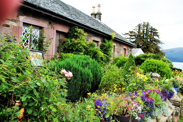 Quaint and colourful cottage at Luss, Loch Lomond.