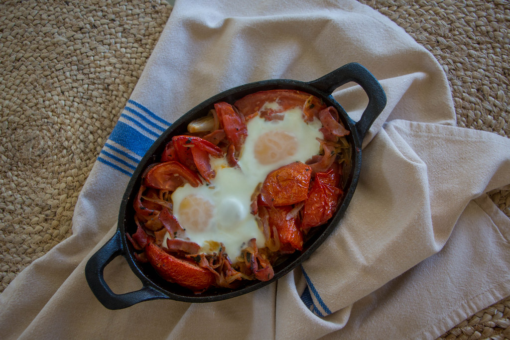 08.07. Basque Style Baked Eggs
