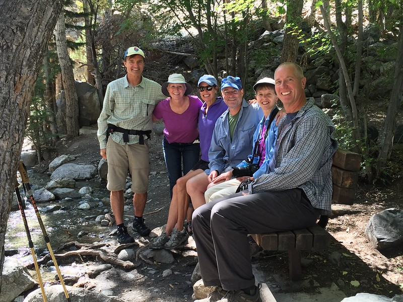 Randy, Laura, Althy, Ron, Tina and Fred at the Zapata Falls Trail