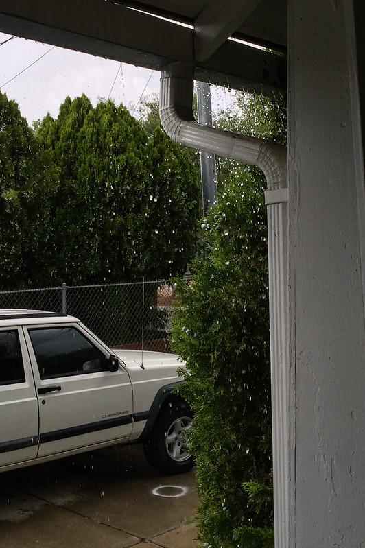 Rain and Hail Falling