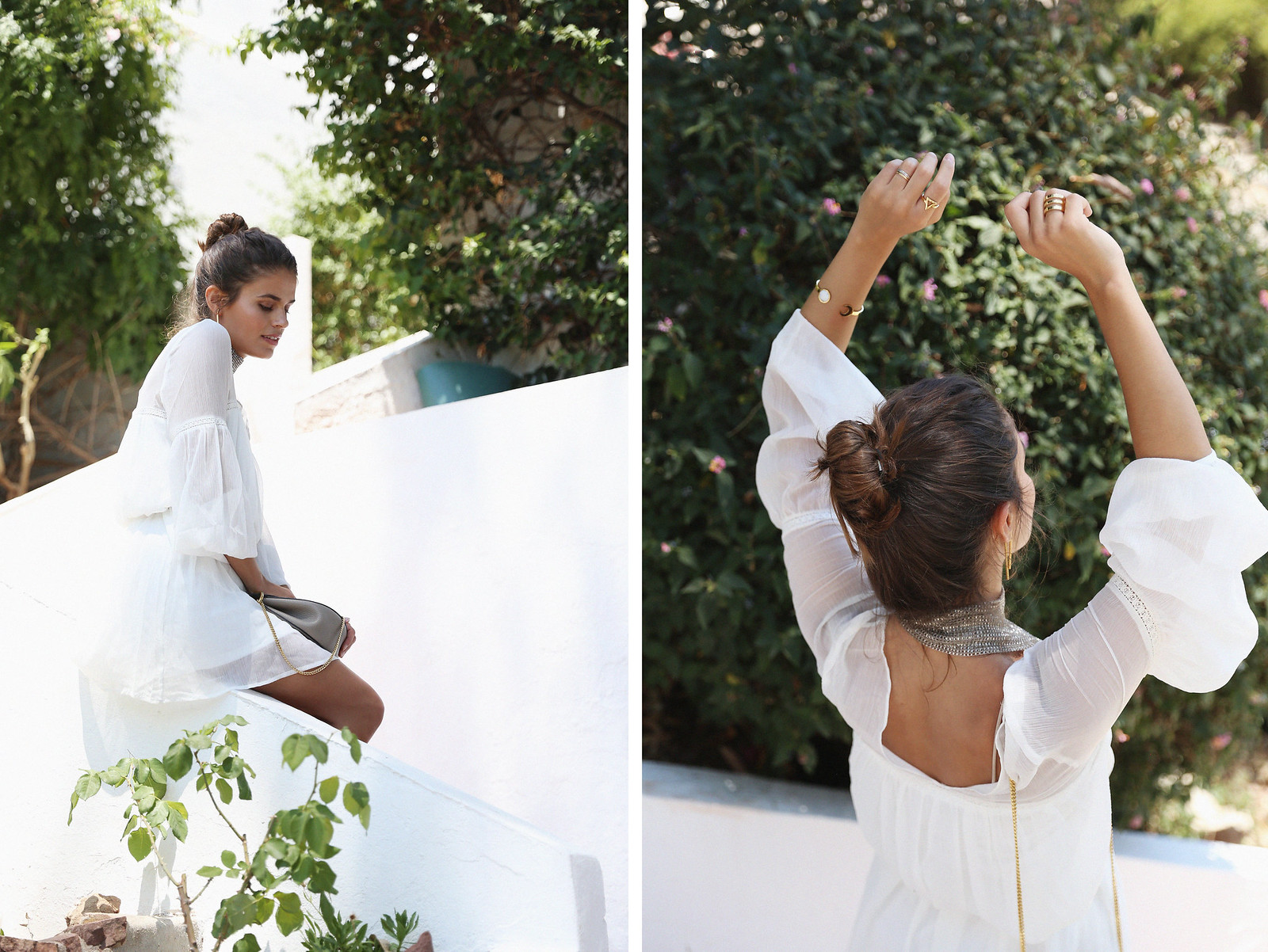 Jessie Chanes Seams for a desire Short White Dress-2