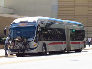 "Route 2 ""Spur"" Articulated Bus, The T in Fort Worth 