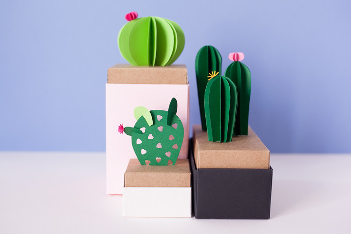 DIY Cactus de papel · DIY Paper cactus · Fábrica de Imaginación · Tutorial in Spanish-06