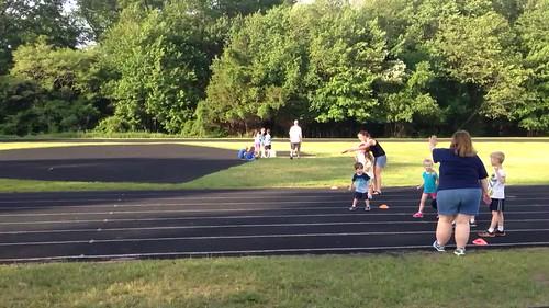 Josh running track