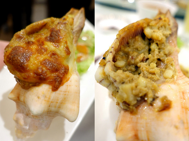 XIU Fine Cantonese Dining Restaurant- Baked Stuffed Sea Conch, French Style