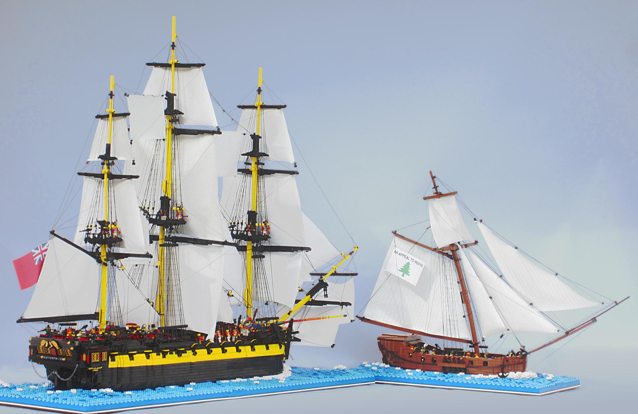 HMS Enterprize vs. Oliver Cromwell