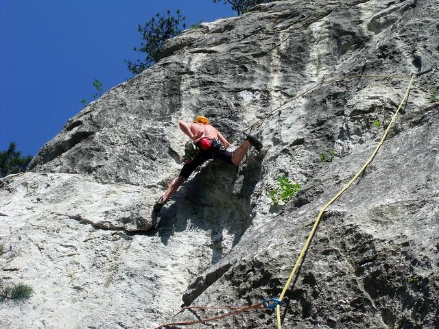 Rax Wachthüttelturm, Via Helma 200 m (7-)