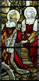 St Catherine and the wife of William Gill as St Cecilia (Ward & Hughes, 1894)