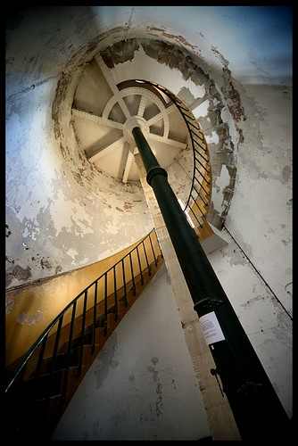 Up the Stairscase inside Spurn Point Lighthouse | by Miles From Nowhere Photography